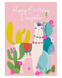 Daughter Birthday - Llama & cactus
