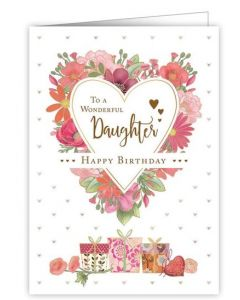 Daughter Birthday - Flower heart & gifts