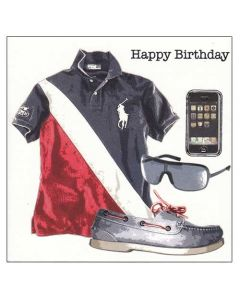 'Happy Birthday' Men's Outfit Card