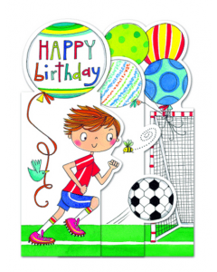 Die Cut Trifold Happy Birthday Card