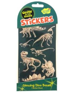 Stickers - Dino Bones Glow in the Dark stickers
