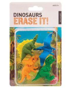 Dinosaur erase it! Set of 4 erasers