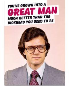 Greeting Card - Great Man