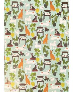 Folded Wrapping Paper - Dog Palais