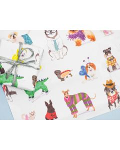 Folded Wrapping Paper - DOGGY Dress Up