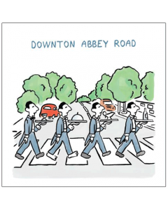 'Downton Abbey Road' Card