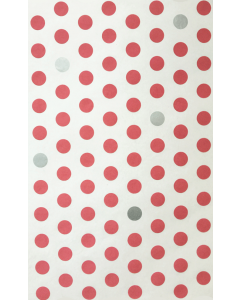Dusty Pink/Silver Spot Folded Wrapping Paper