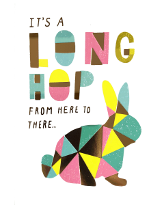 Easter Card - It's a Long Hop