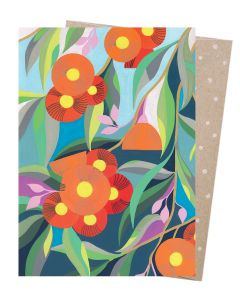 Orange gum blossom card