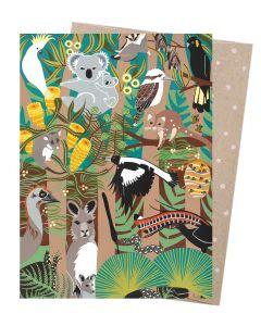 Native Australian animals card
