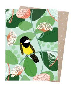 'Australian Golden Whistler' bird card