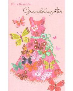 GRANDDAUGHTER Card - Pink Dress
