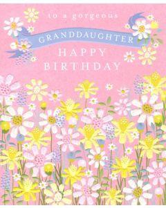 GRANDDAUGHTER Card - Sparkly Garden