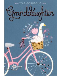 GRANDDAUGHTER Card - Pink Bicycle