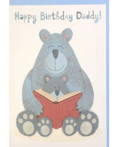 DADDY Birthday - Cute Bears Reading