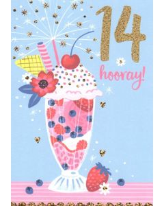 AGE 14 Card - Ice Cream Sundae