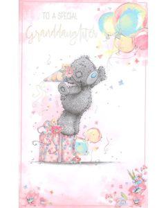 GRANDDAUGHTER Card - Teddy & Balloons