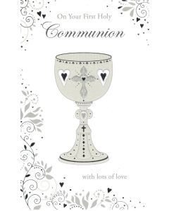 COMMUNION Card - Silver Cup