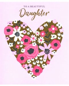 DAUGHTER Card - Floral Heart
