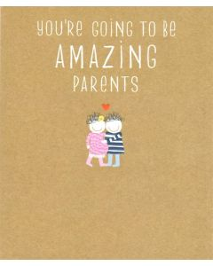PARENTS-TO-BE Card - Happy Couple