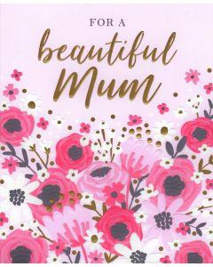 MUM Card - Pink Flowers