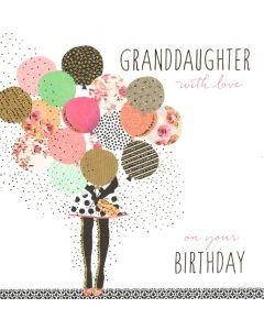 GRANDDAUGHTER Card - Balloon Bunch