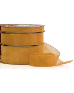 Ribbon Roll - Organza GOLD (25mm x 50 metre)