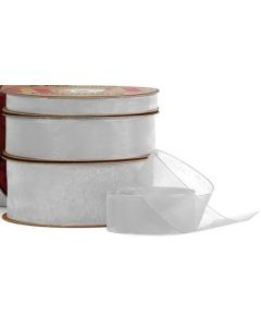 Ribbon Roll - Organza SILVER (25mm x 50 metre)
