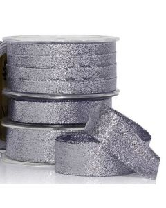 Ribbon Roll - Metallic CHARCOAL SILVER (10mm wide x 10 metres)
