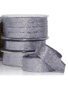 Ribbon Roll - Metallic CHARCOAL SILVER (10mm wide x 10 metres)