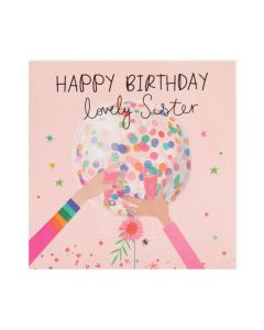 SISTER Card - Confetti Balloon