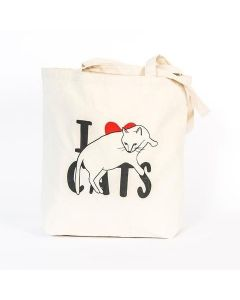 'I Love Cats' Tote Bag