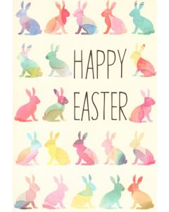 Easter Card - Pastel Bunnies