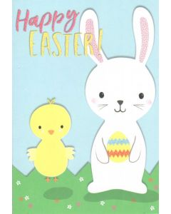 Easter Card - Chick & Bunny