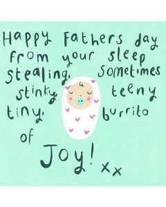 'Happy Father's day from your burrito of Joy' Card