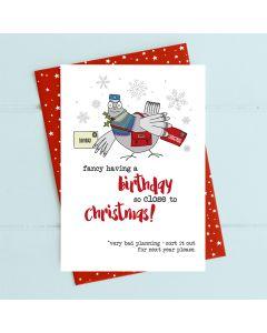 Greeting Card - December Birthday