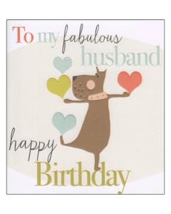 'To My Fabulous Husband' Card
