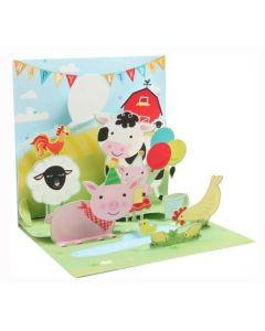 3D Pop-Up Card - Farm Birthday