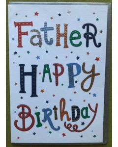 Father Birthday - with holographic silver foil writing