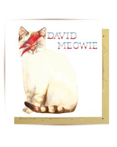 Greeting Card - David Meowie