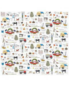 Folded Wrapping Paper - 'Christmas in Australia'
