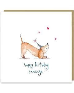 Birthday Card - Sausage Dog
