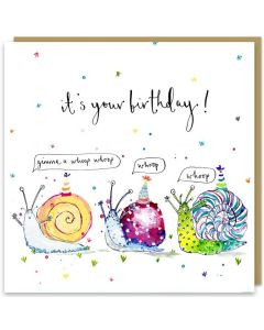 Birthday Card - Party Snails