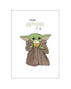 Birthday Card - Baby YODA