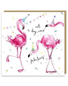 Greeting Card - Fabulous Flamingos