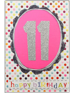 '11 Happy Birthday' Card