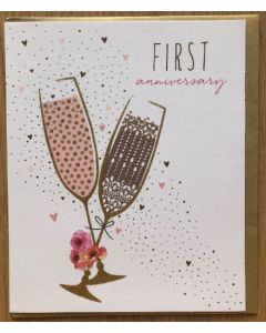 First Anniversary - Champagne glasses