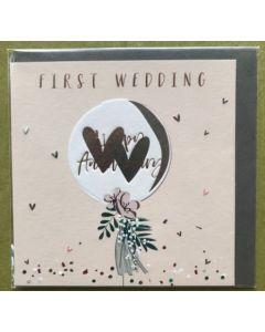 Happy First Wedding Anniversary - Bouquet balloon