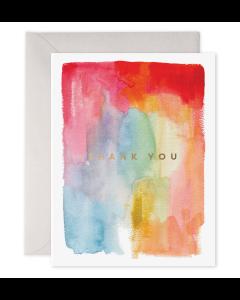 THANK YOU Card - Pastel Watercolour