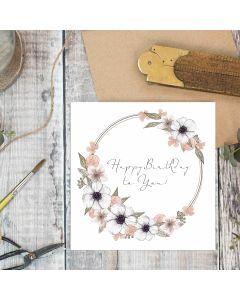 Birthday Card - Flower Circle